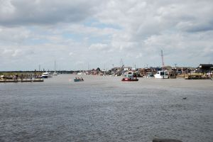 Southwold Harbour and the ferries