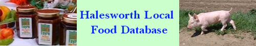 Halesworth Local Food Database