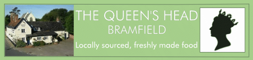 The Queen's Head, Bramfield Banner