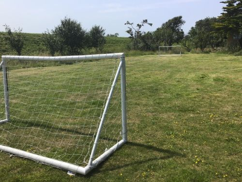 There is also a small football pitch with two goals.