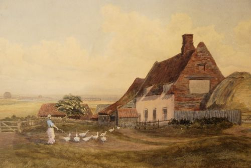 Valley Farm as depicted in a painting from the 1890s.