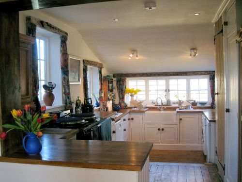 The Kitchen at Valley Farm with the electric Aga