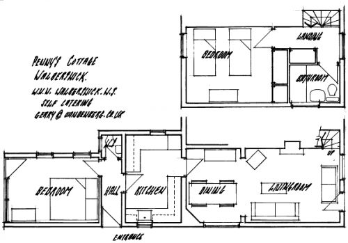 Ground and first floor Cottage layout