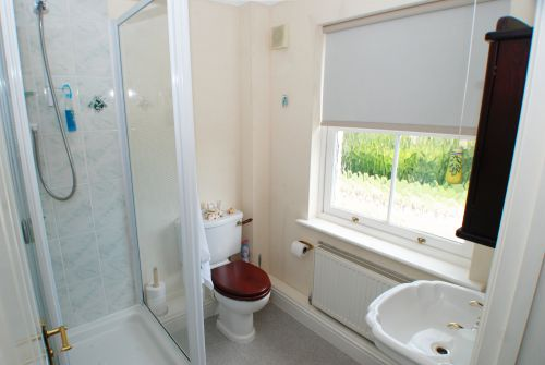 The En-suite facilities, including shower cabinet, for the Double Bedroom at Hawthorn House
