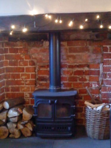 Inglenook with wood-burner feature