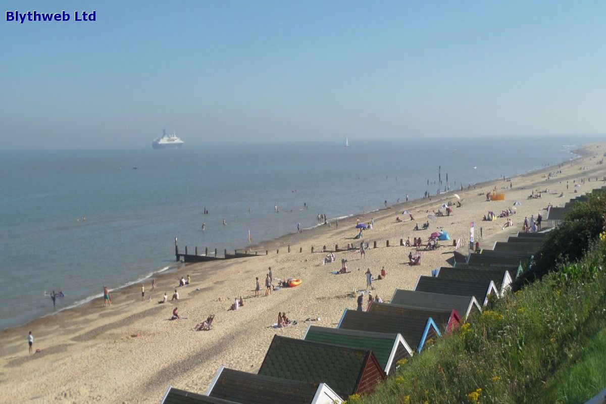 Southwold Beach and the Saga Pearl II